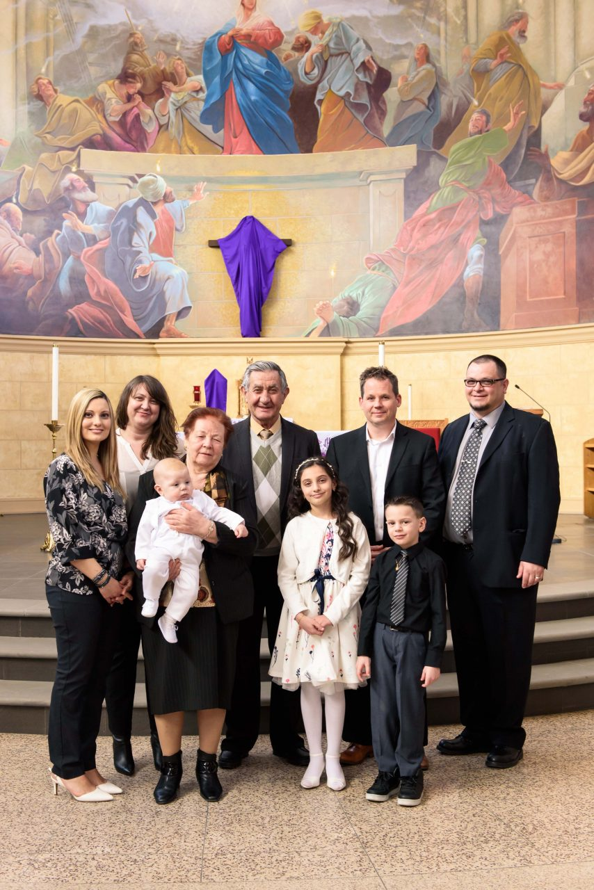 family pictures after the baptism, Toronto