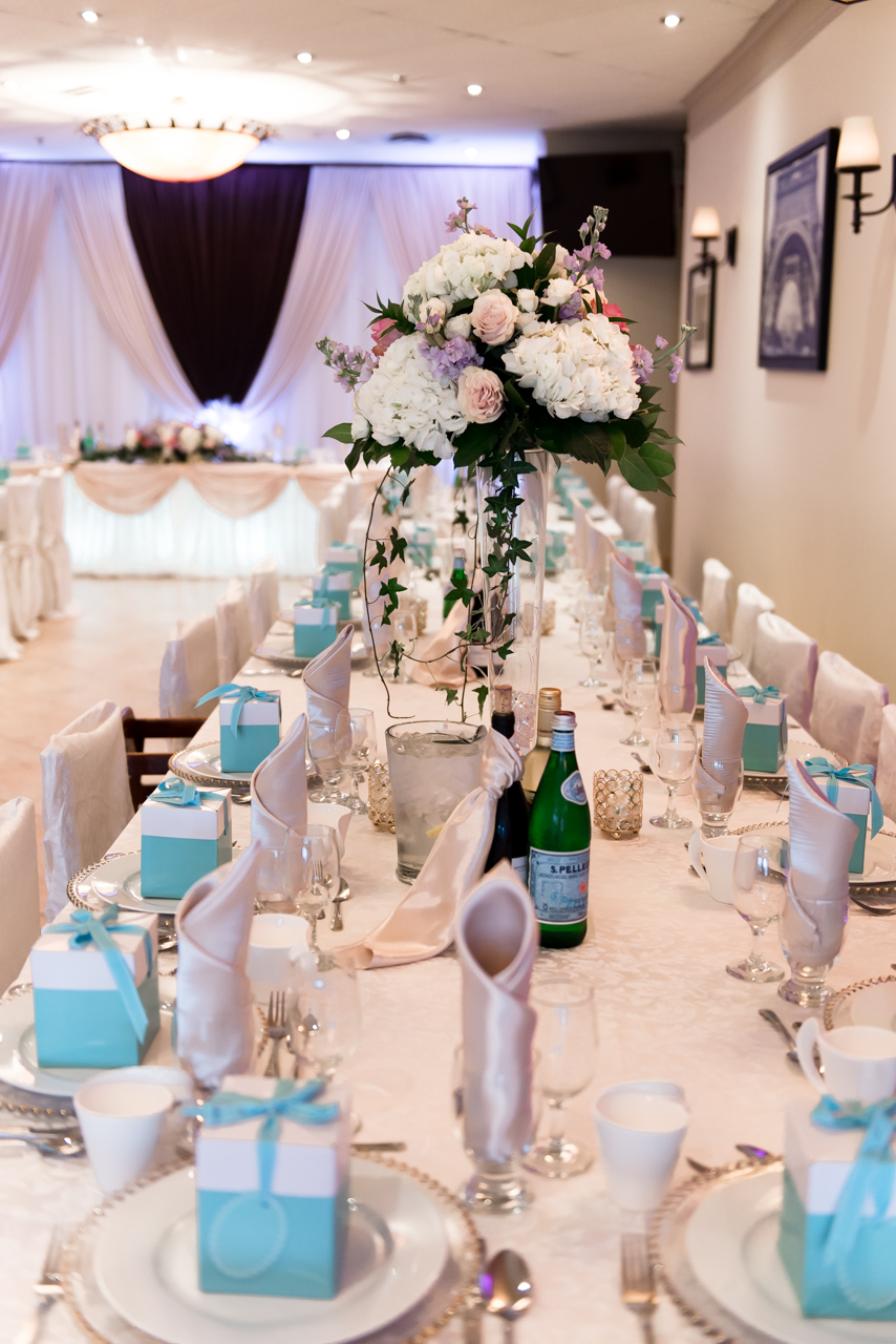 Bravo Bistro Mississauga guest table at the wedding venue