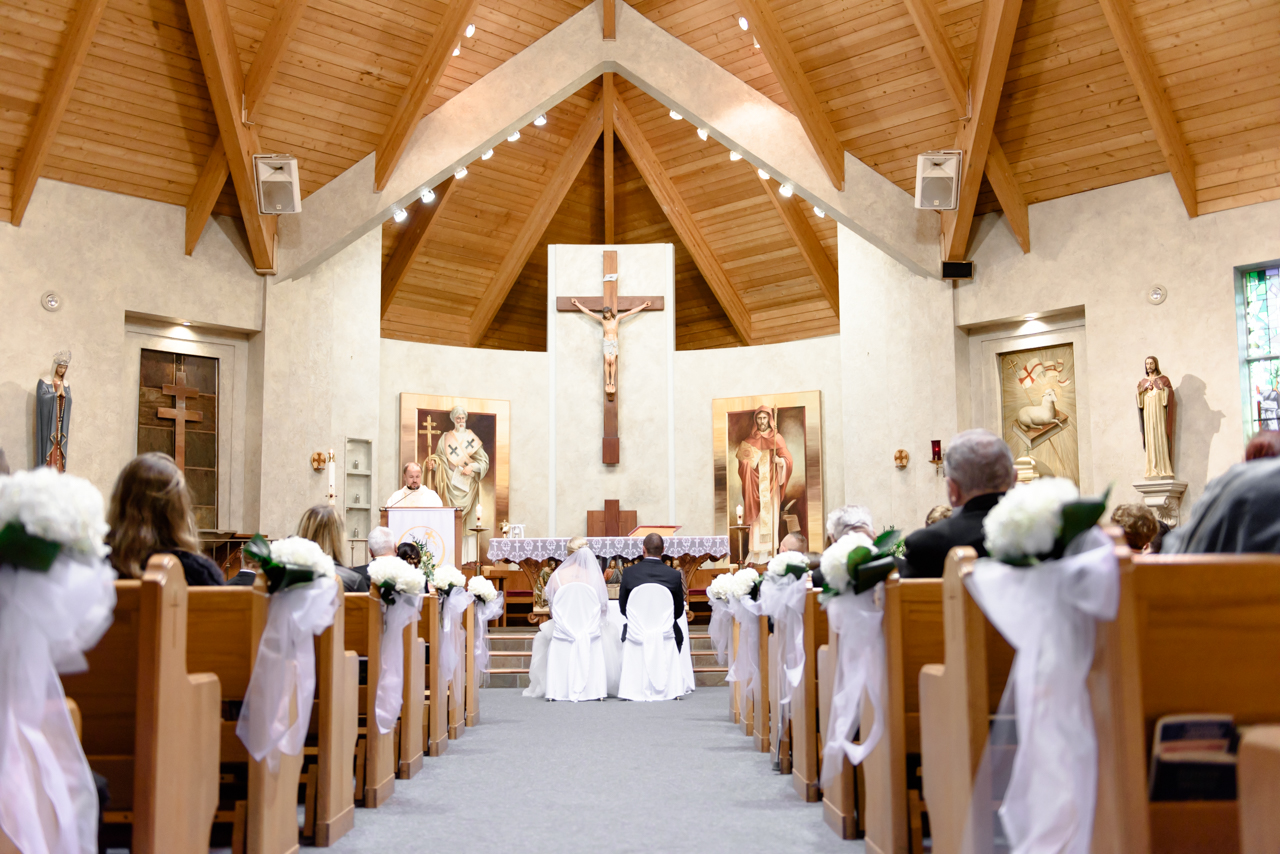 wedding ceremony at Sts. Cyril and Methodius Parish in Mississauga