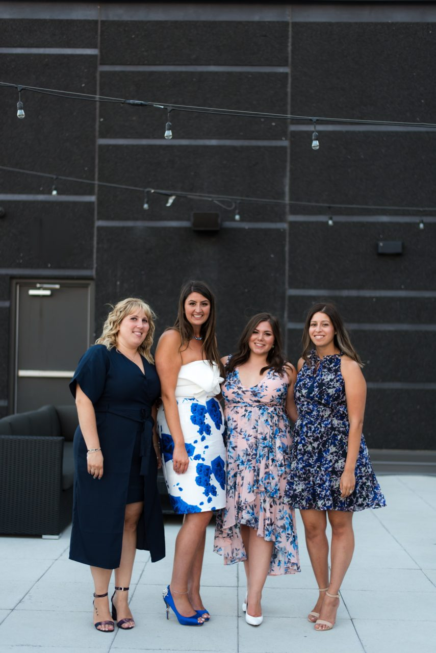 bridal shower pictures with bridal party taken by toronto photographer