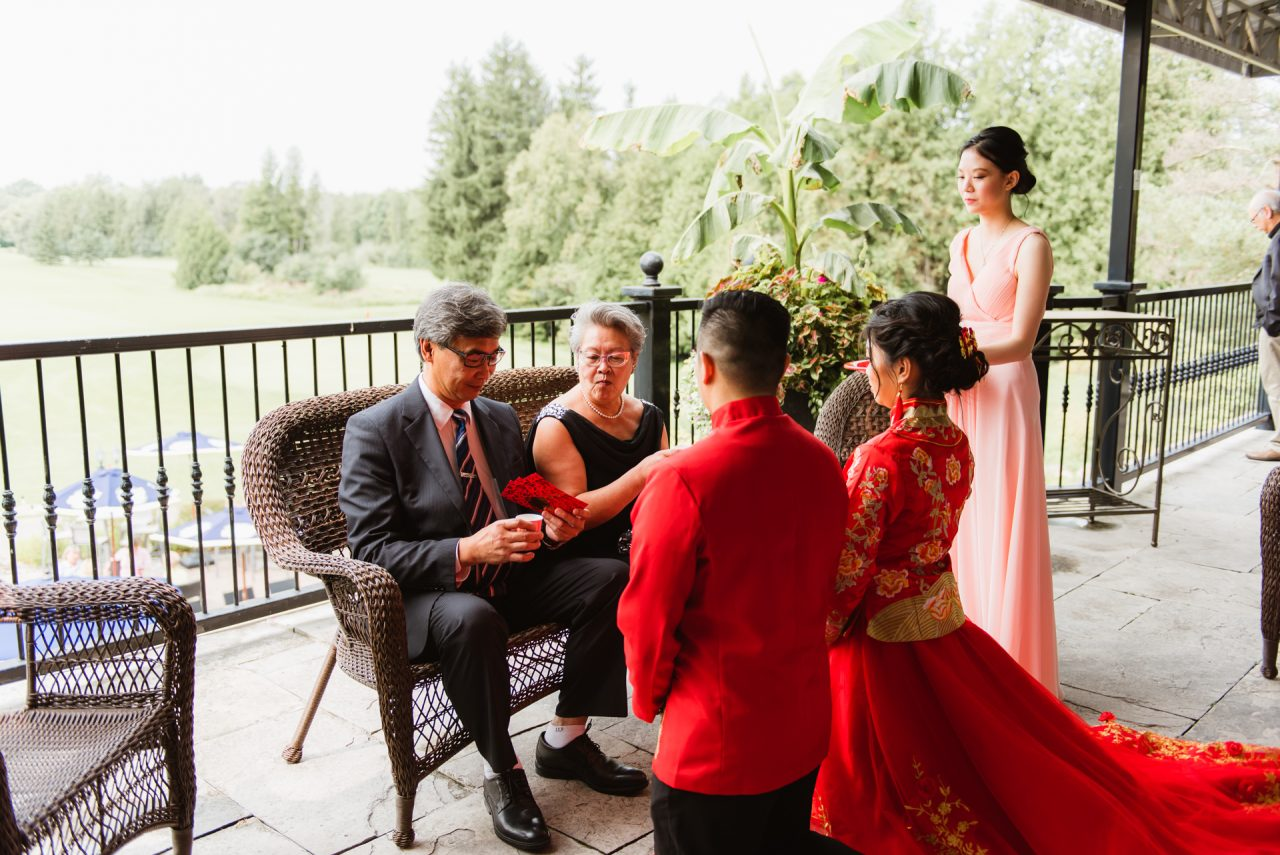 King Valley Golf Club Wedding Tea Ceremony
