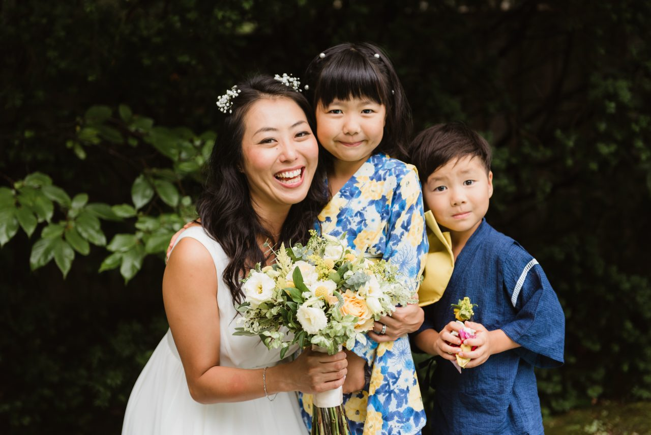 Toronto Japanese wedding family pictures