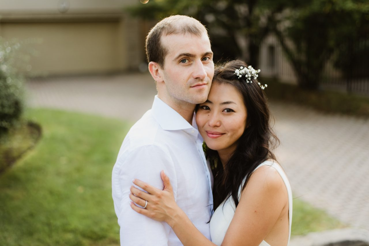 Toronto wedding picture portrait of braid and groom
