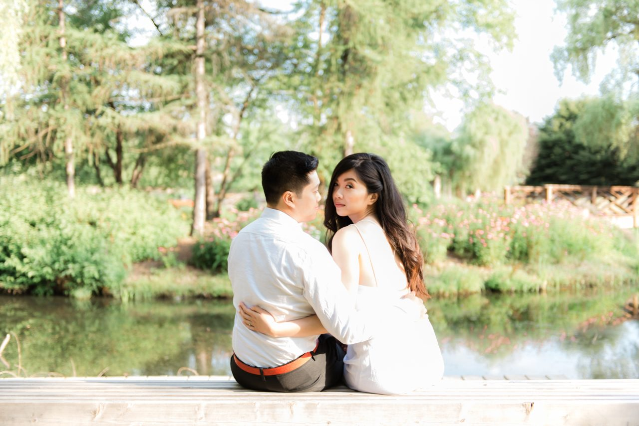 Humber Arboretum Toronto engagement photo