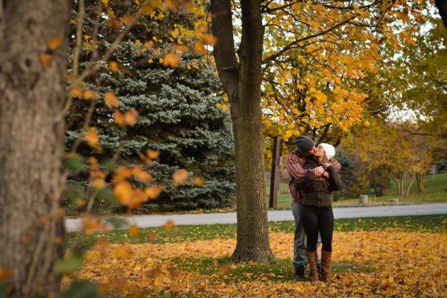 Toronto fall engagement picture