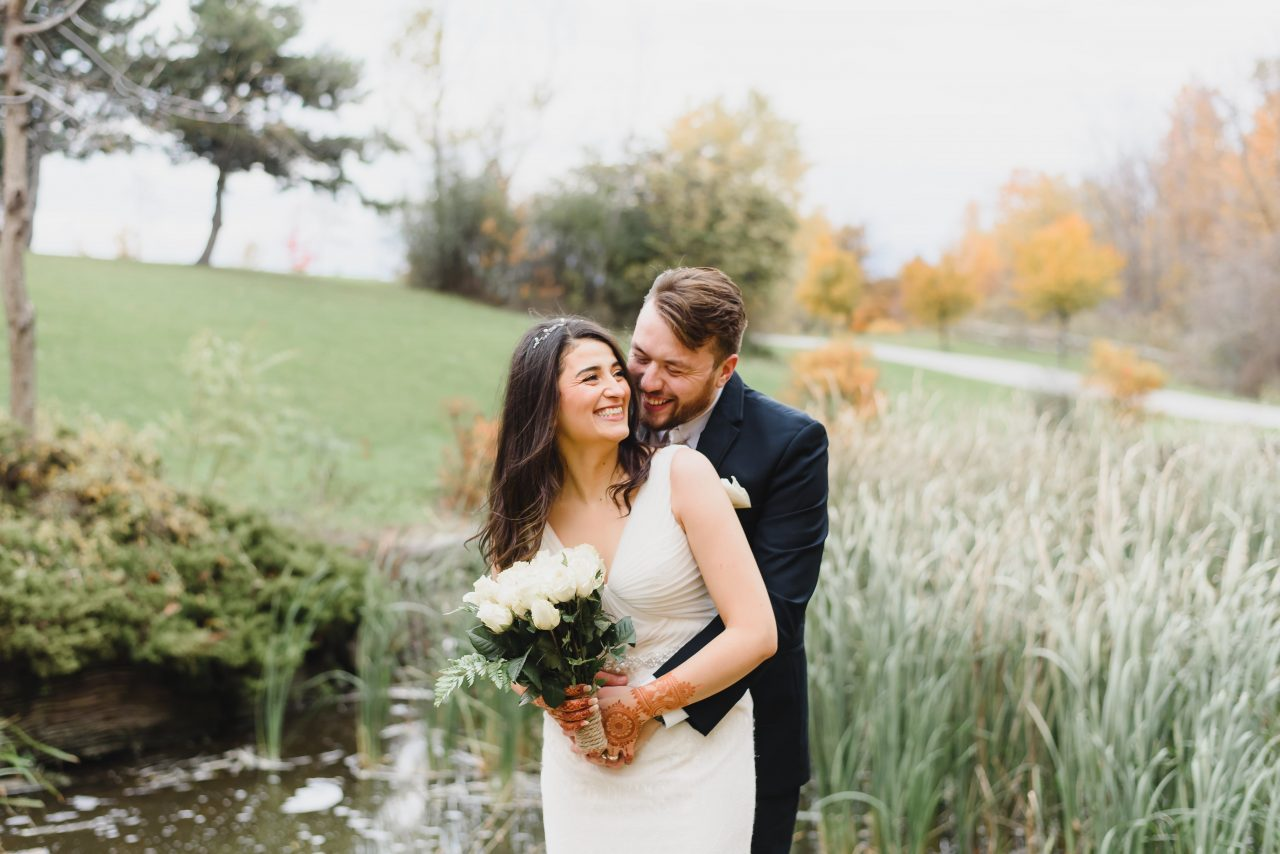 Centennial Park, Toronto Fall Wedding Photo