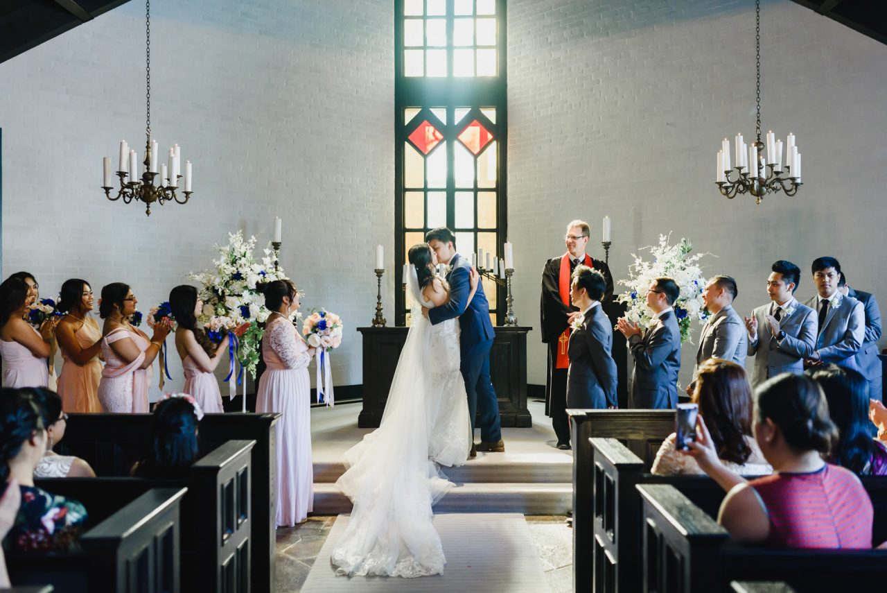 Old Mill Toronto wedding ceremony at the chapel