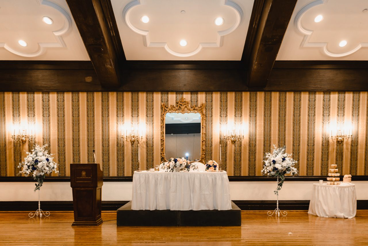 Old Mill Toronto Wedding reception decor Brule Room
