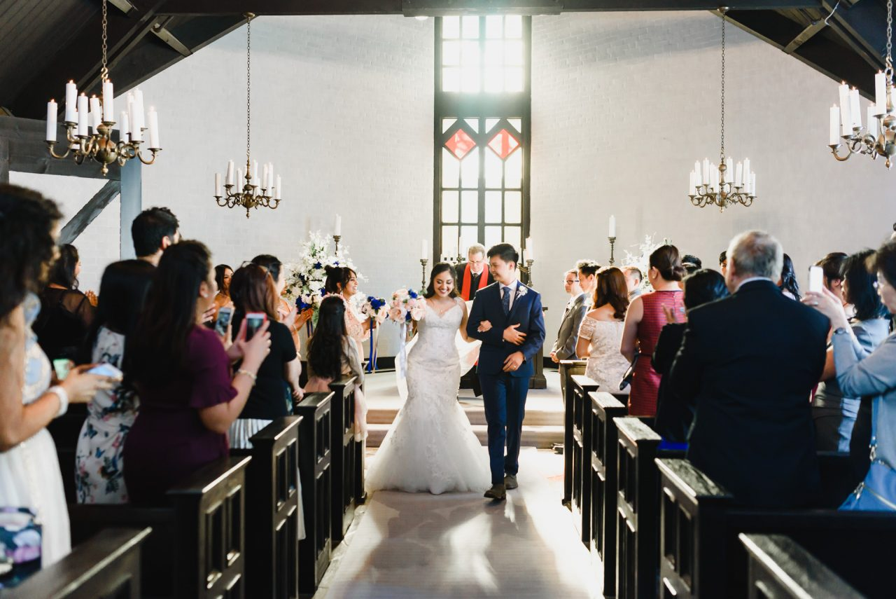 wedding ceremony at Old Mill in Toronto Canada