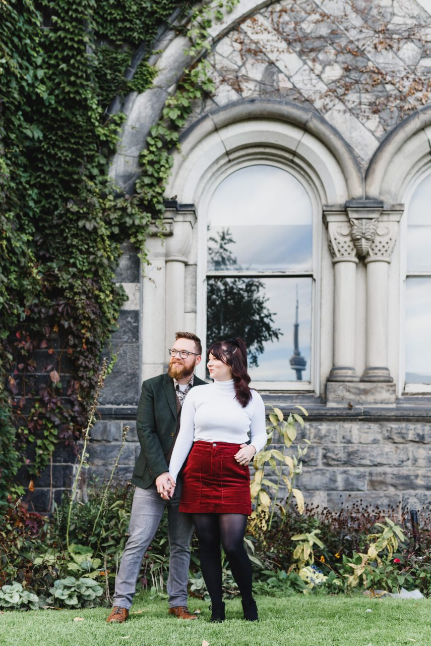 engagement pictures at University of Toronto