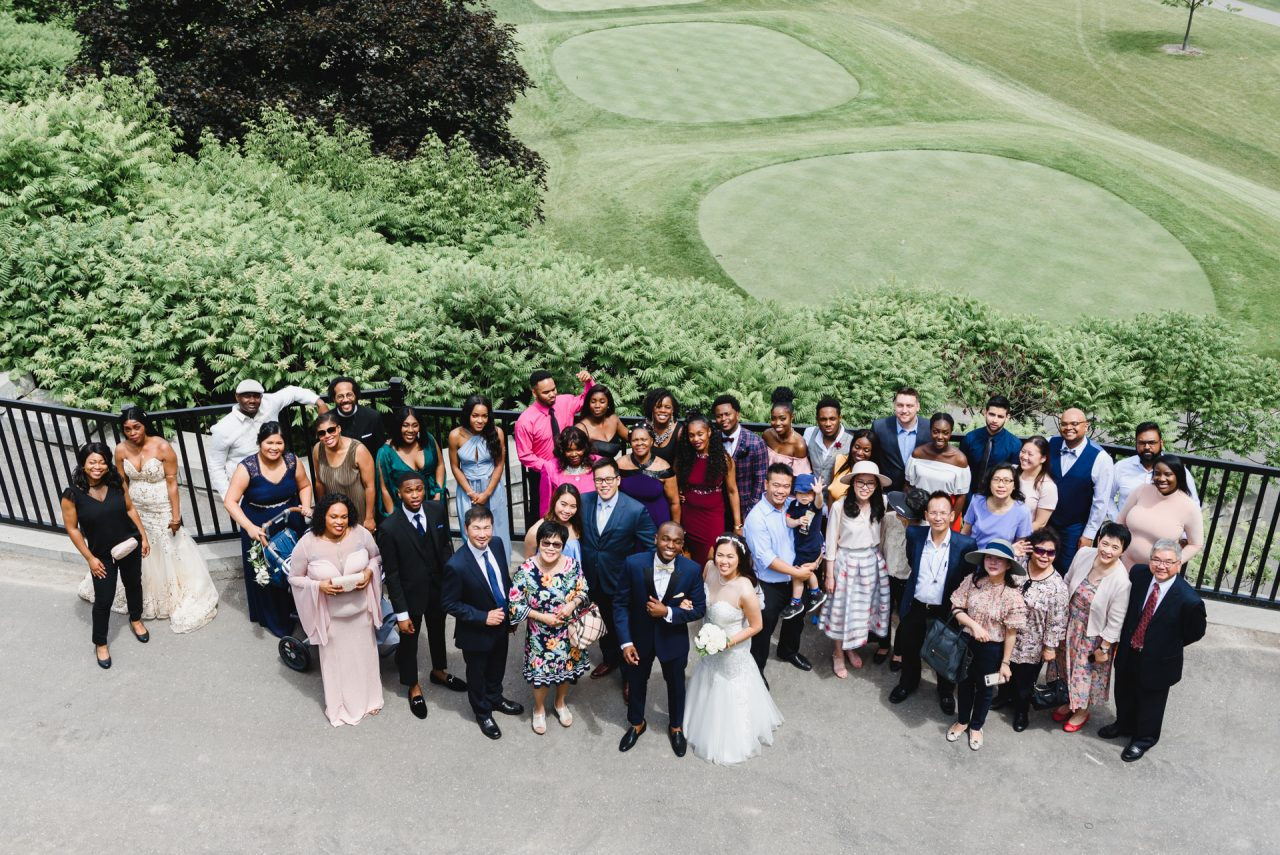 Bayview Golf and Country Club wedding picture of all guests
