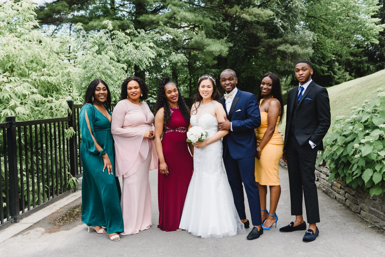 wedding family portrait at Bayview Golf and Country Club, Toronto