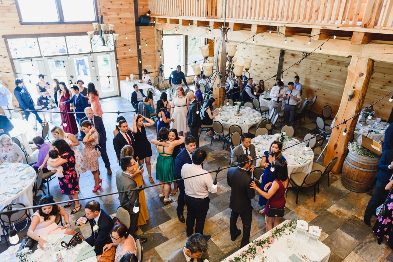 holland marsh wineries wedding reception coctail hour