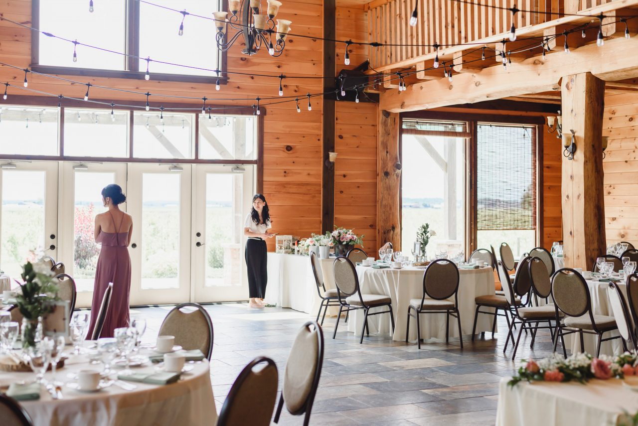 holland marsh wineries wedding reception decor