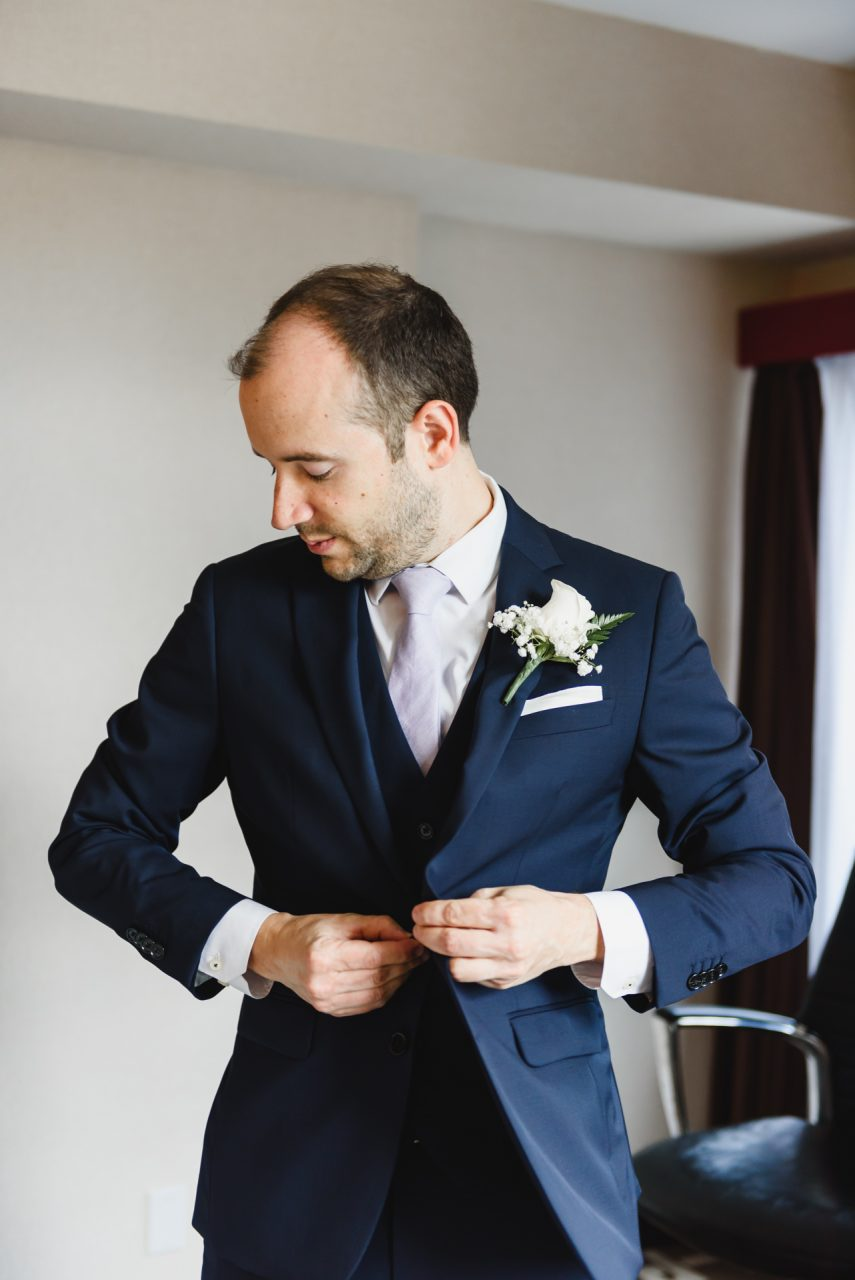 groom getting ready picture