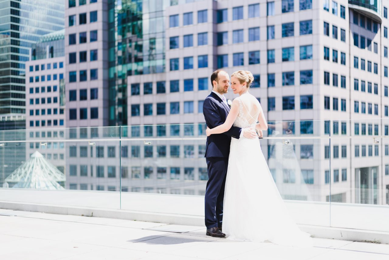 wedding picture taken at Malaparte events located downtown Toronto