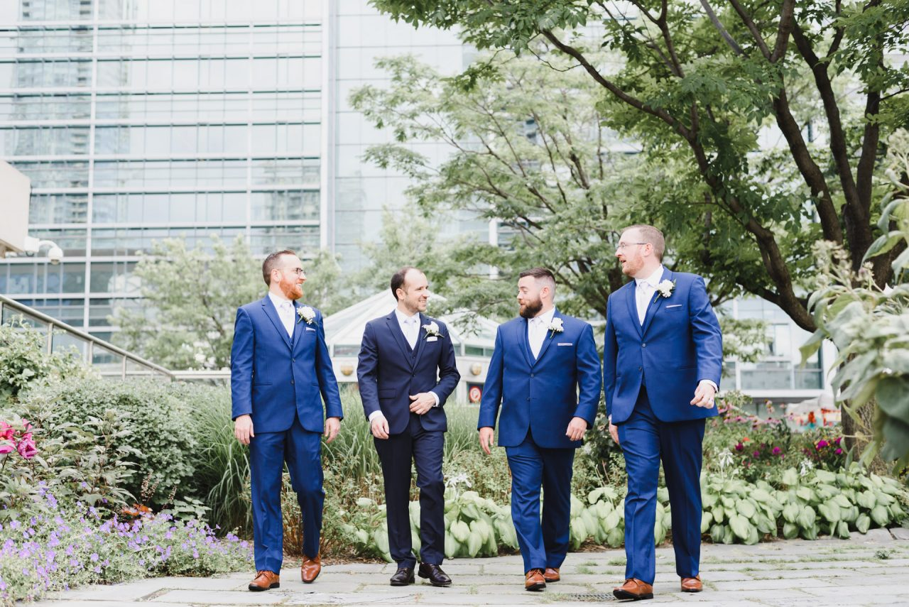 downtown Toronto groom party picture