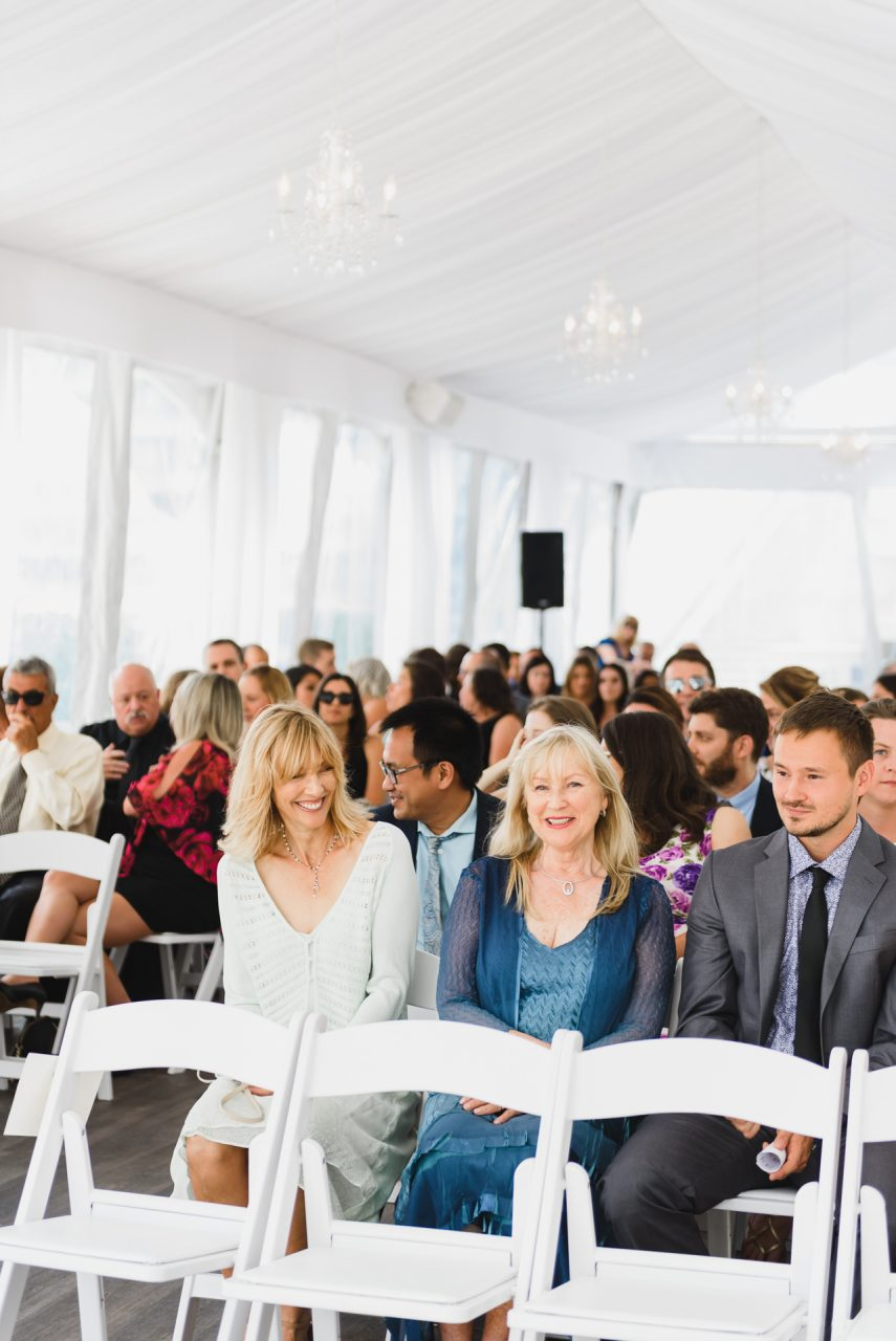 Malaparte Events wedding ceremony candids of guests