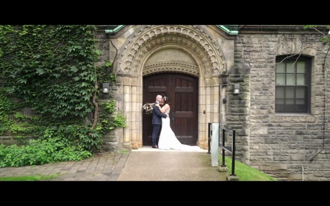 wedding video taken by Toronto wedding videographer