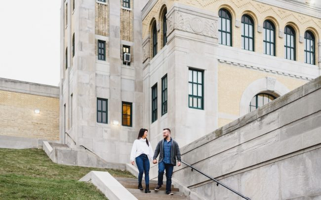 R.C. Harris Water Treatment Plant engagement picture taken by Toronto photographer