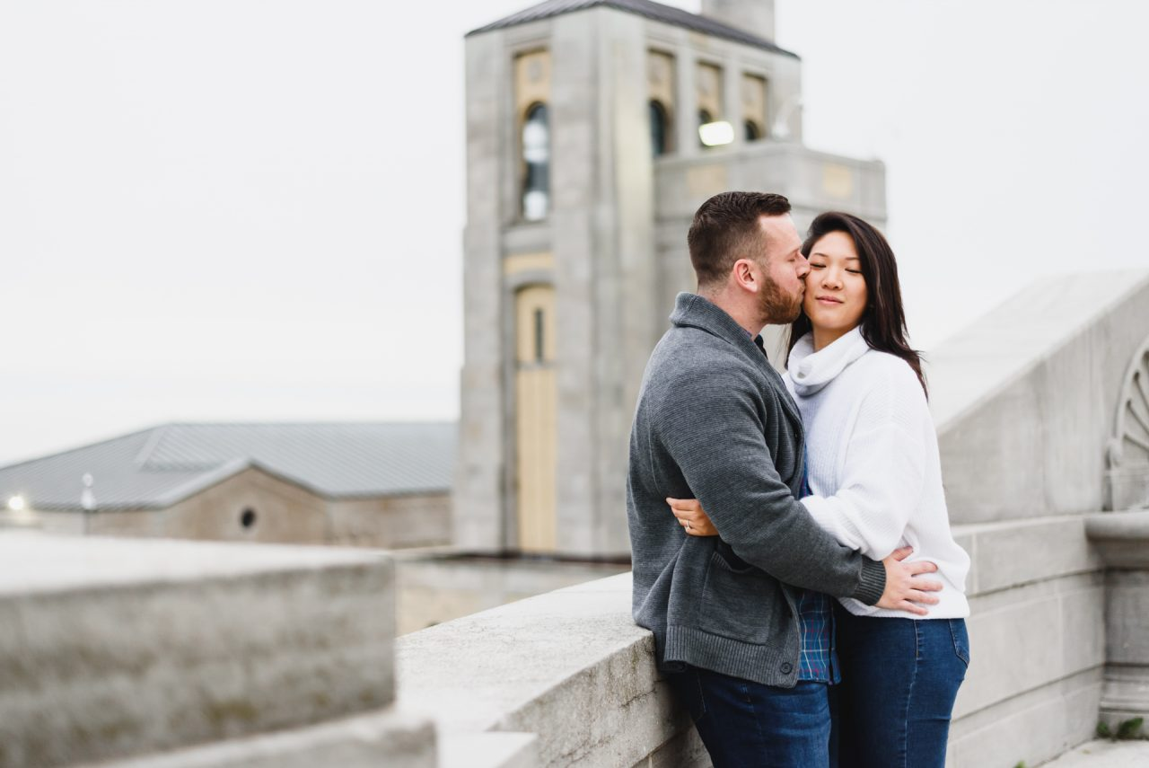 R.C. Harris Water Treatment Plant engagemnt pictures taken by toronto wedding photographer