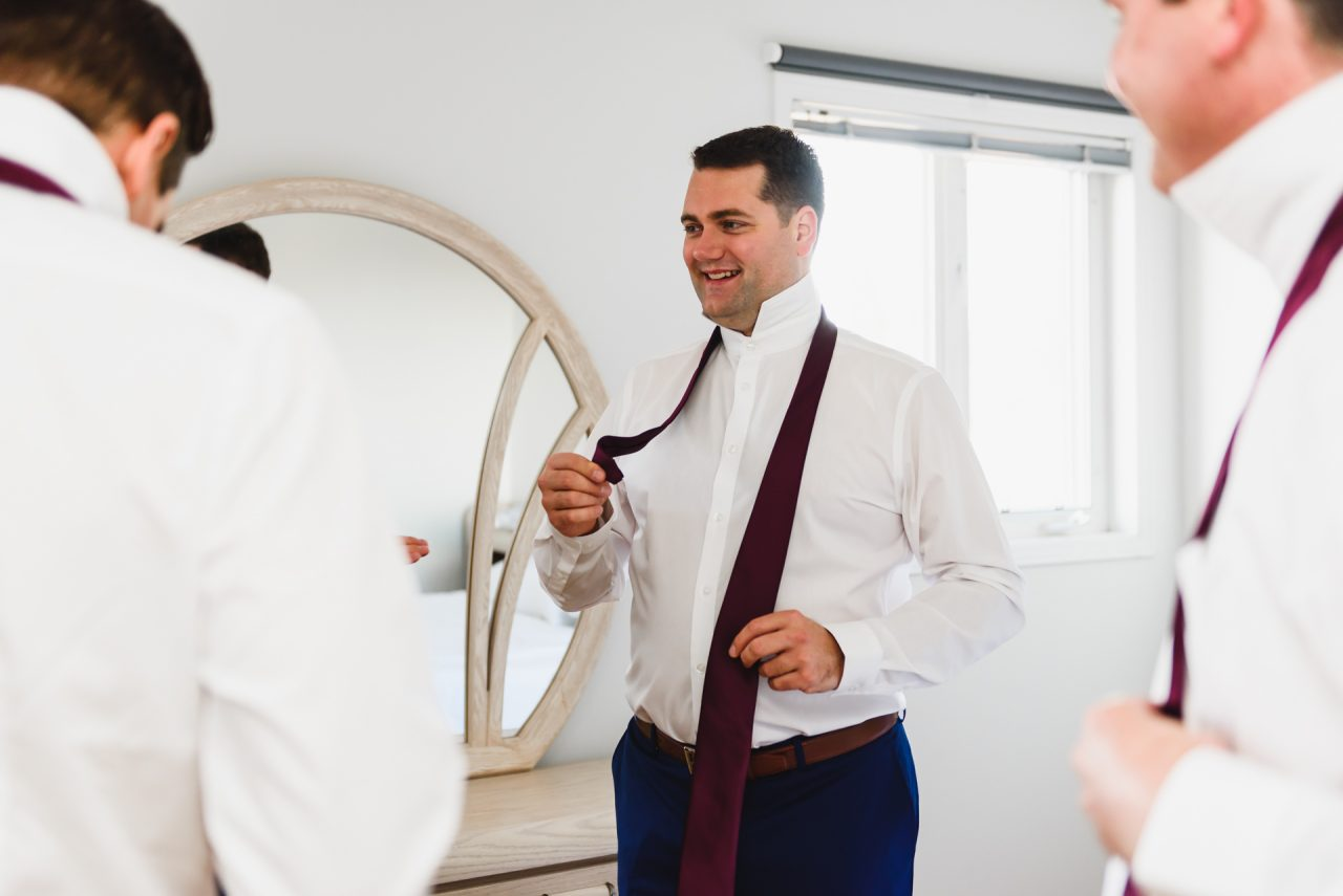 picture of groom getting ready