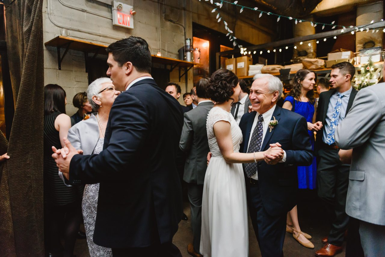 father-doughter dance during wedding reception