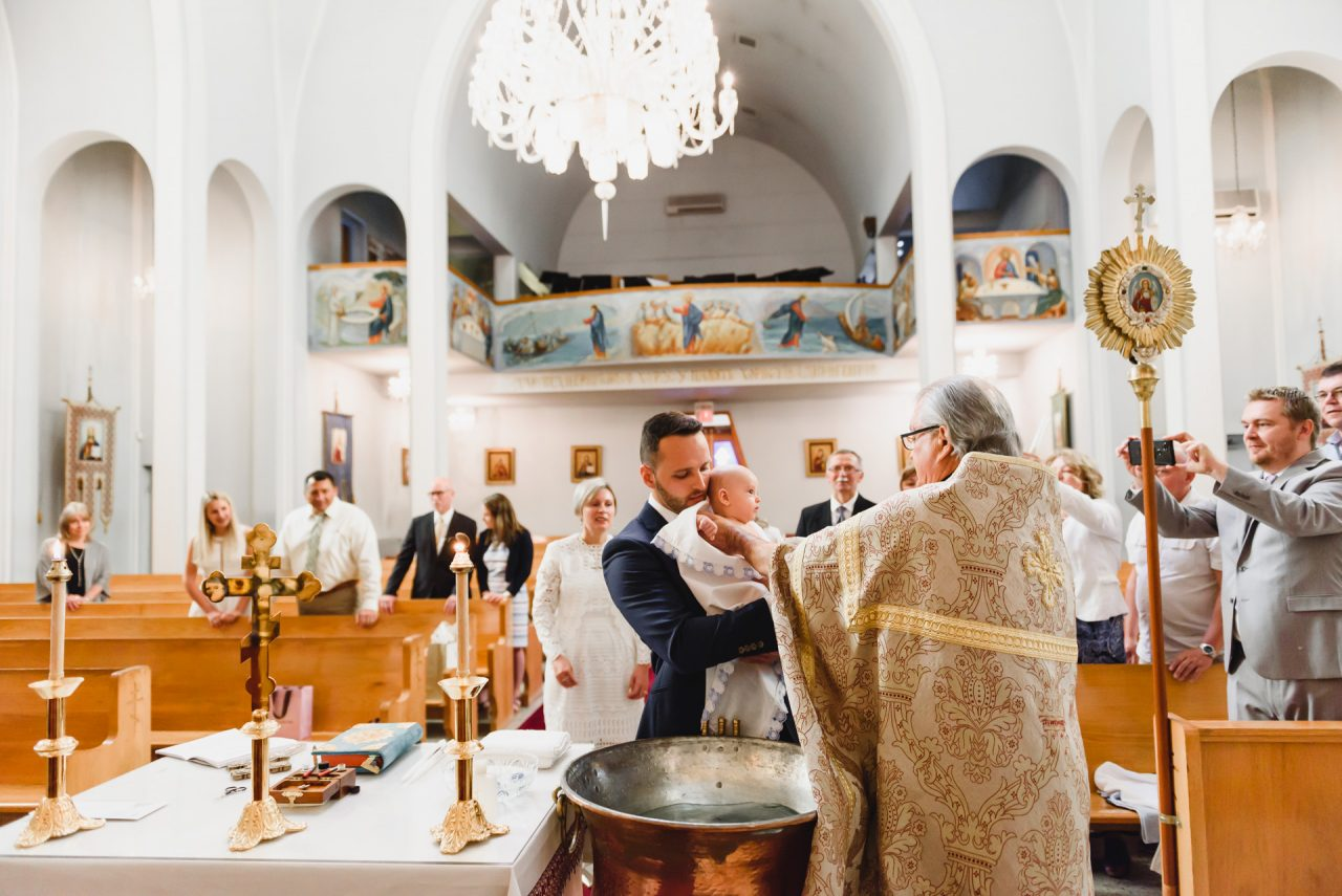 Toronto baptism photographer pictures taken at Ukrainian Orthodox Church of St.Demetrius