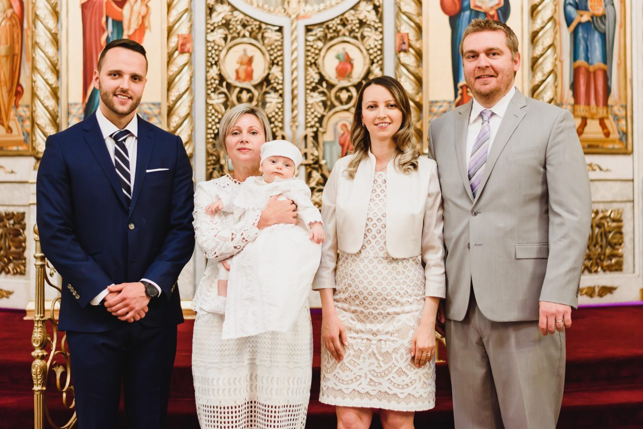 baptism photographer family pictures at the church