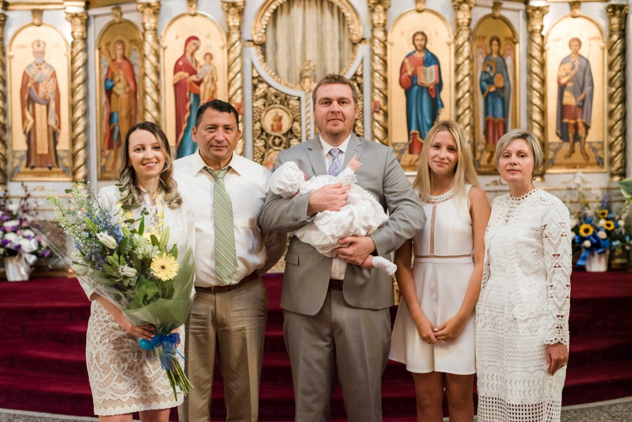 baptism photographer Toronto family pictures at the church