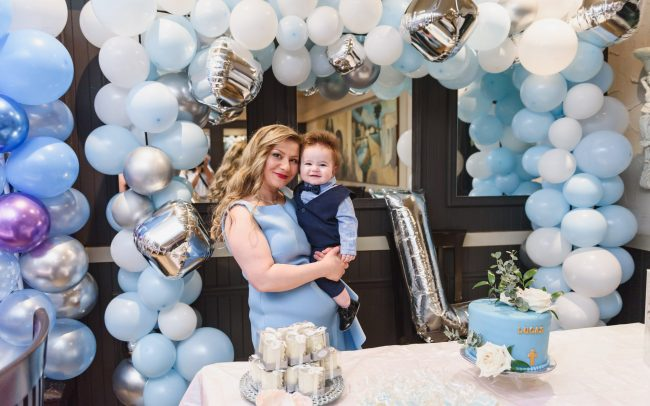 Luca's baptism and birthday party