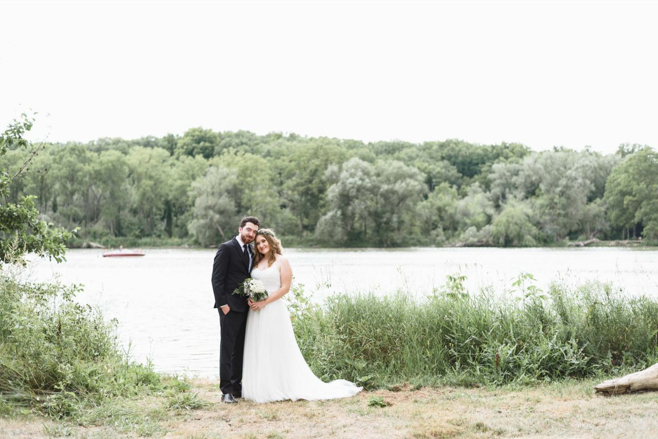 bride and groom portrait at the county