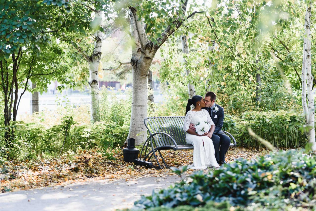 Toronto Music Garden Wedding Photoshoot taken at Fall