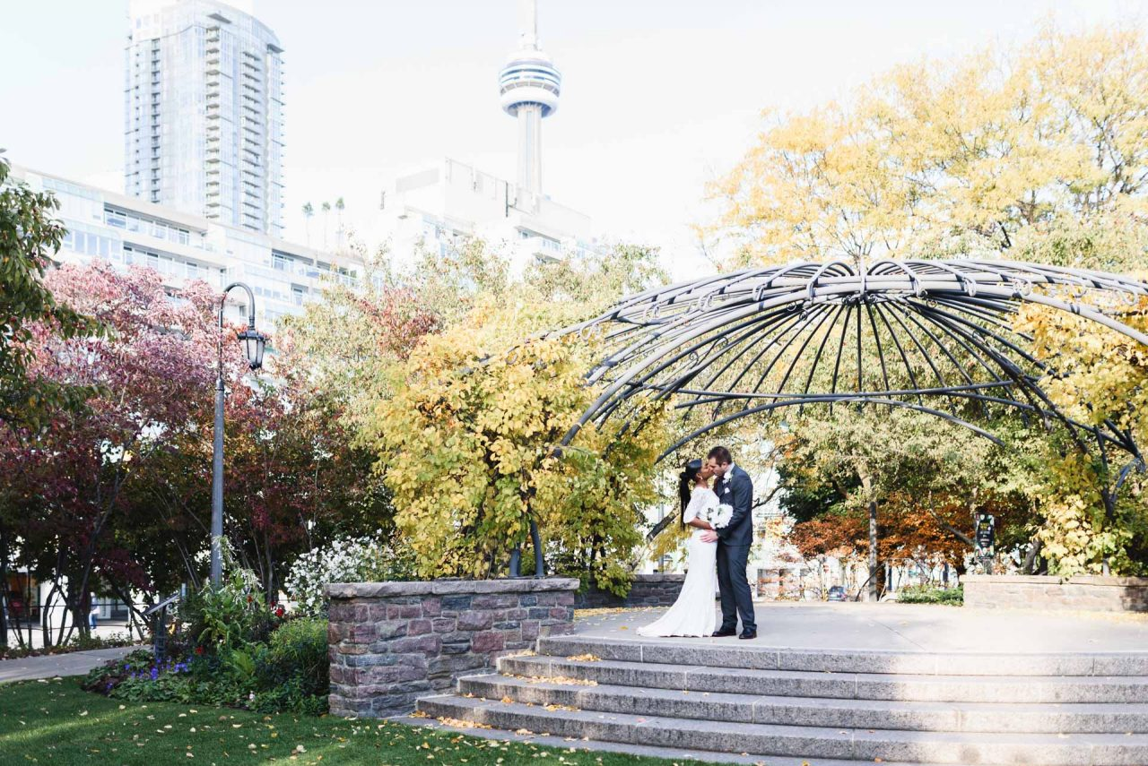Toronto Music Garden Wedding Photoshoot