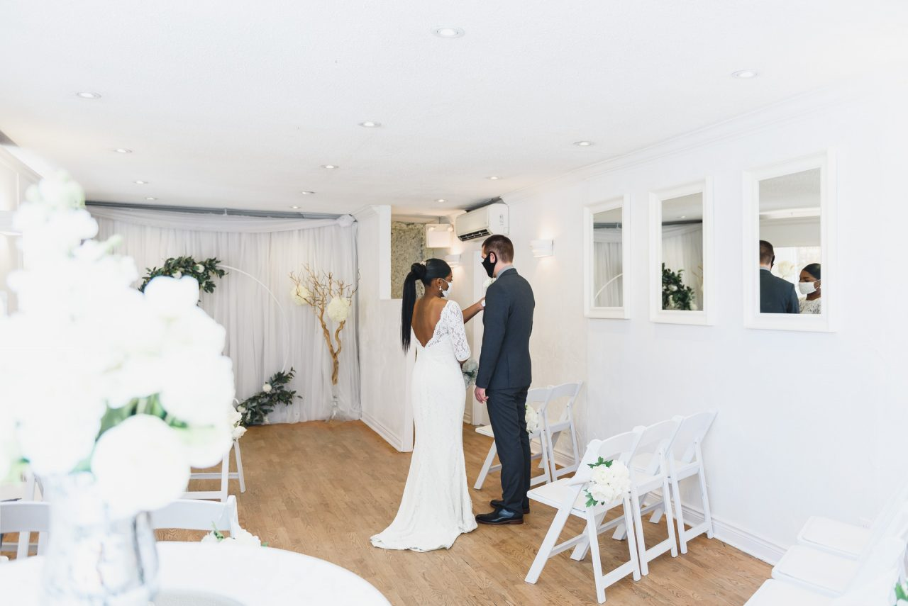 intimate ceremony at Toronto Wedding Chapel