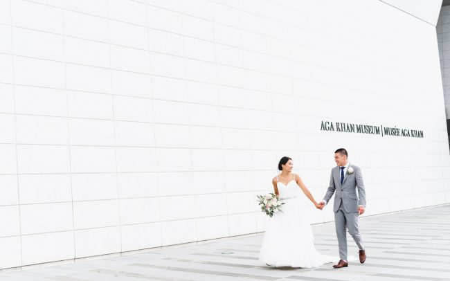 wedding photoshoot at Aga Khan Museum in Toronto Canada