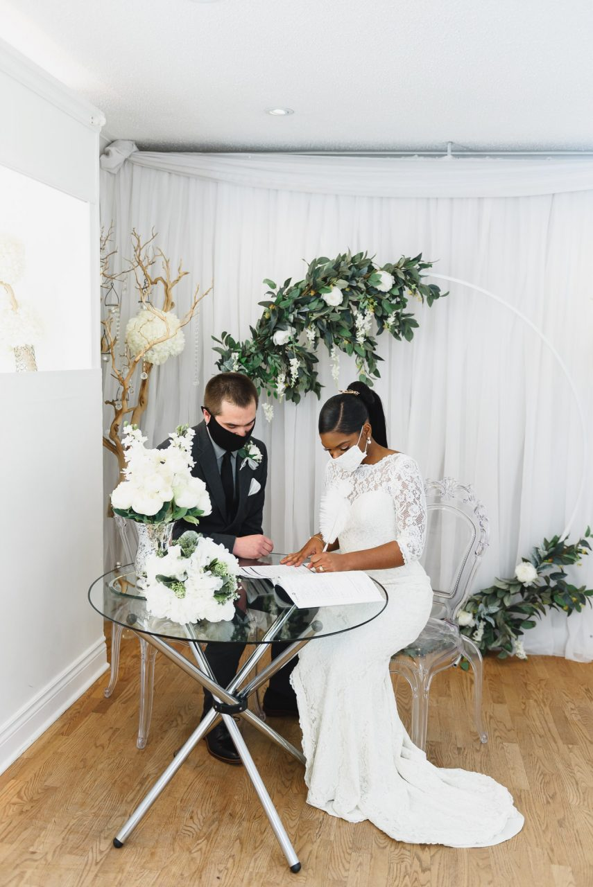 wedding ceremony at Toronto Wedding Chapel