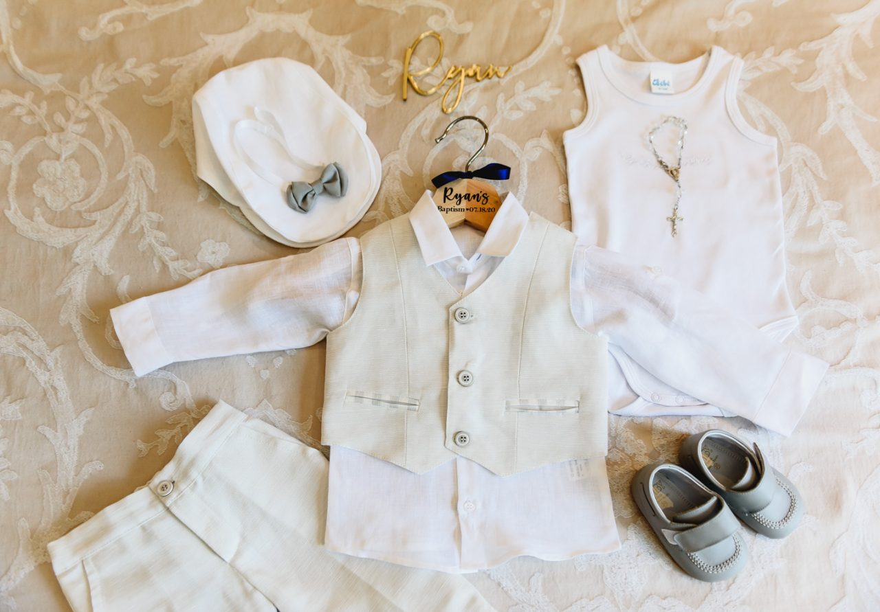 baptism photography baby by outfit